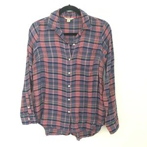 Lucky brand plaid top Small